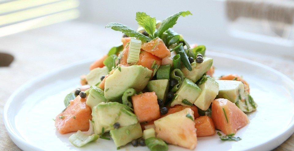 Salade avocado papaya