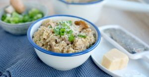 Havermout risotto champignons